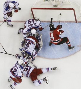 Henrique It's Over: The Devils re-signed 2012 playoff hero Adam Henrique to a long-term extension. SIlive.com