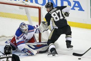 Henrik Lundqvist will be seeing familiar foe Sidney Crosby in the first round.  Getty Images