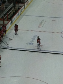Martin Brodeur leaving the ice possibly for the last time