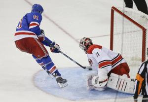 Getting Nashty With It: Rick Nash beats Anton Khudobin in the shootout. AP Photo by Frank Franklin II/Getty Images
