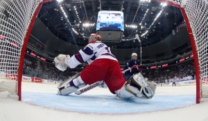 Rangers 2014 fourth round pick Igor Shestyorkin has turned some heads leading Russia to the World Junior Championship Final.  HHOF-IIHF Images/usahockey.com