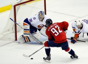 Evgeny Kuznetsov had the breakout performance with two goals and an assist highlighting the Caps' 5-1 win over the Isles in Game 5.  AP Photo by Alex Brandon/Getty Images