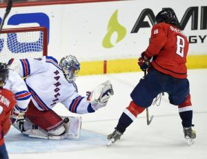 Henrik Lundqvist makes one of 42 saves denying Alex Ovechkin. He's the reason the Rangers prevailed 4-3 forcing Game 7. AP Photo by Nick Wass/Getty Images