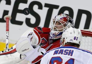 Rick Nash and the Rangers offense has gone missing against Braden Holtby and the Caps. AP Photo by Alex Brandon/Getty Images