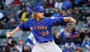 Noah Syndergaard has a chance to make it two consecutive Mets for National League  Rookie Of The Year.  Getty Images/thestar.com