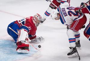 Chris Kreider is stopped by Carey Price in a Rangers 3-0 loss to the Canadiens.   AP Photo by Graham Hughes/The Canadian Press MANDATORY CREDIT